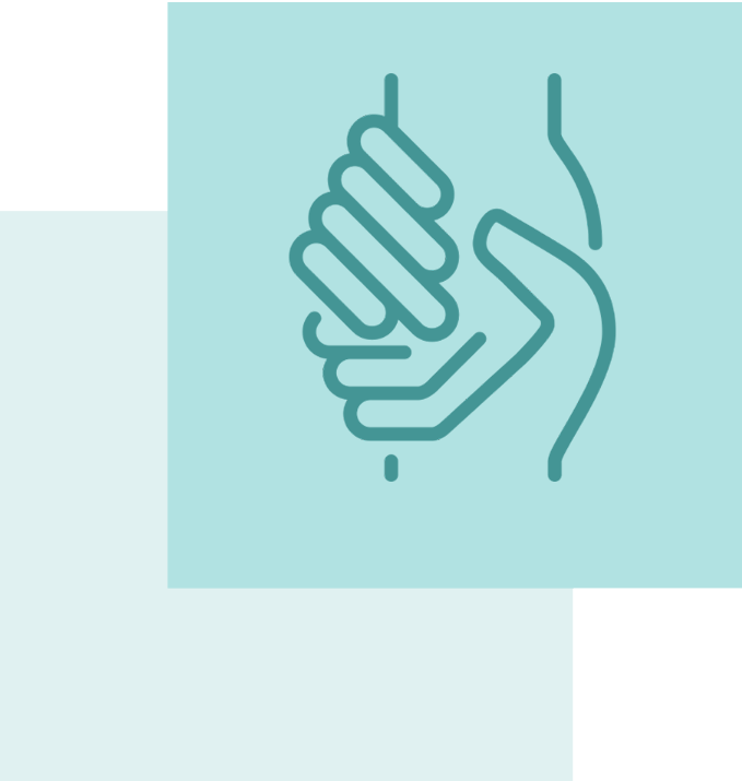 Icon of a handshake representing charity